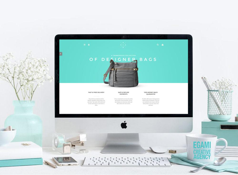 responsive web design, online store and social media marketing